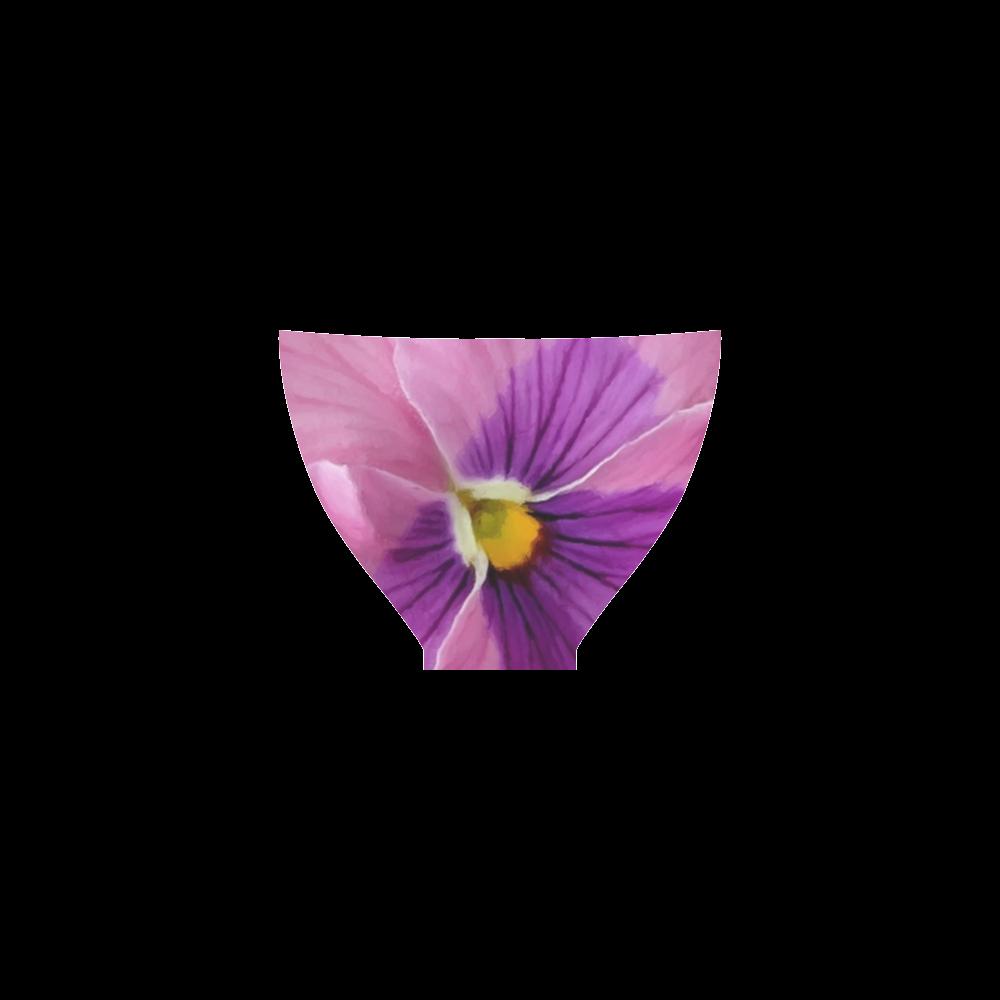 Pink and Purple Pansy Custom Bikini Swimsuit