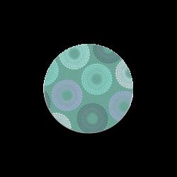 Teal Sea Foam Green Lace Doily Round Coaster