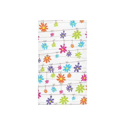 "colorful flowers hanging on lines Custom Towel 16""x28"""