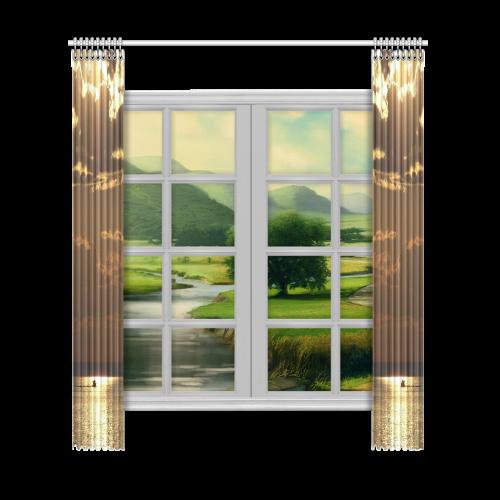 "Awesome Sea Scene Window Curtain 52""x120""(Two Piece)"