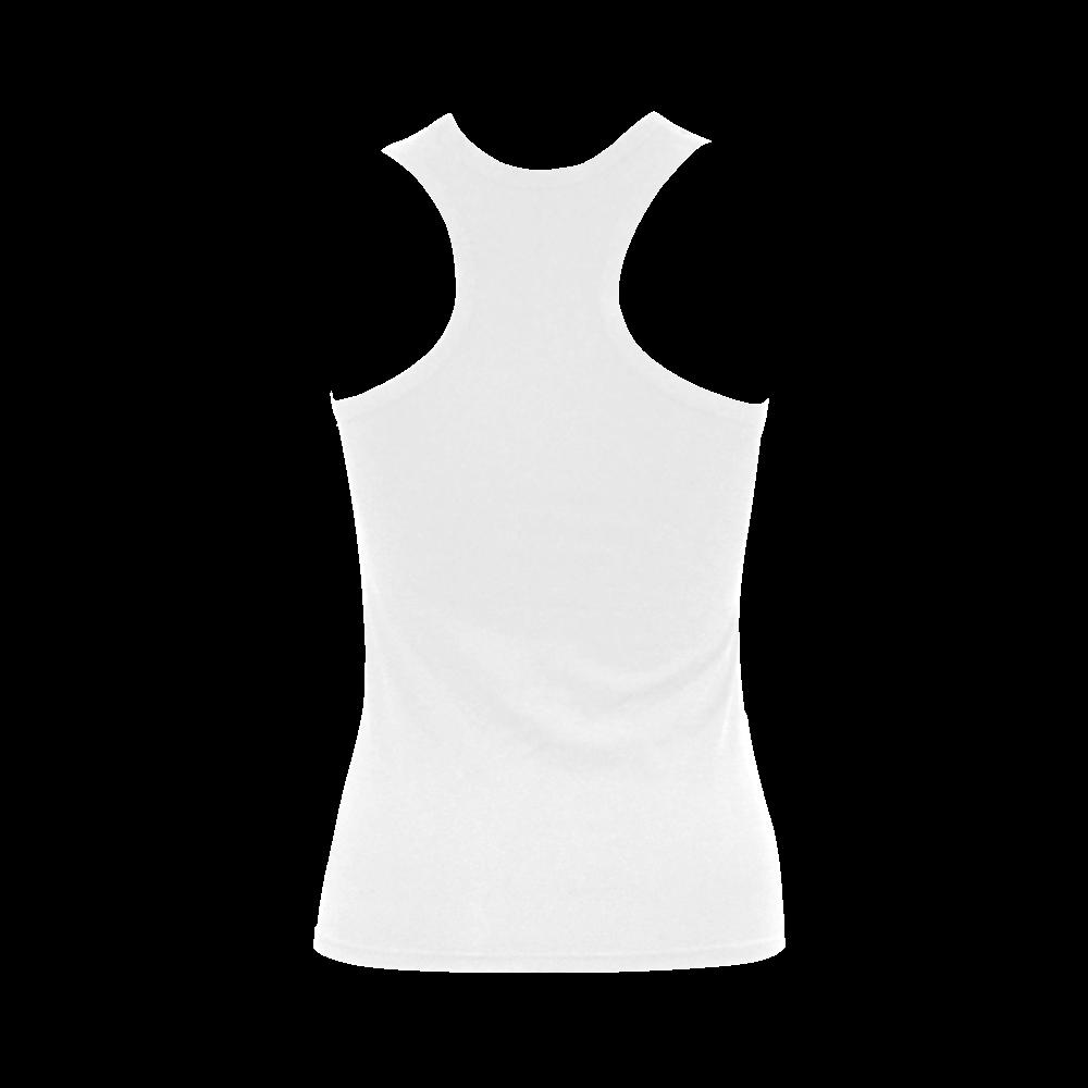 sweet piglet black white Women's Shoulder-Free Tank Top (Model T35)