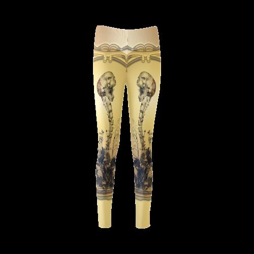 Awesome skull Cassandra Women's Leggings (Model L01)