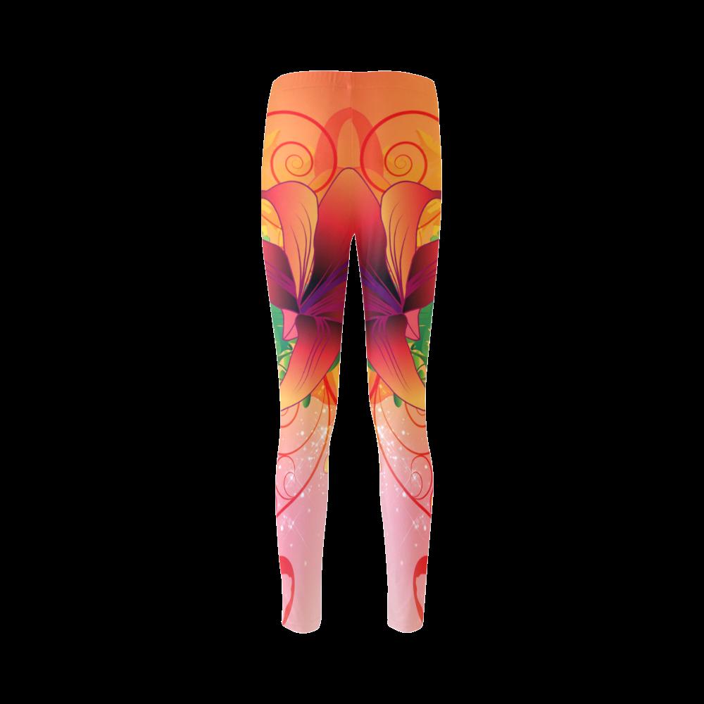 Summer design, wonderful flowers Cassandra Women's Leggings (Model L01)