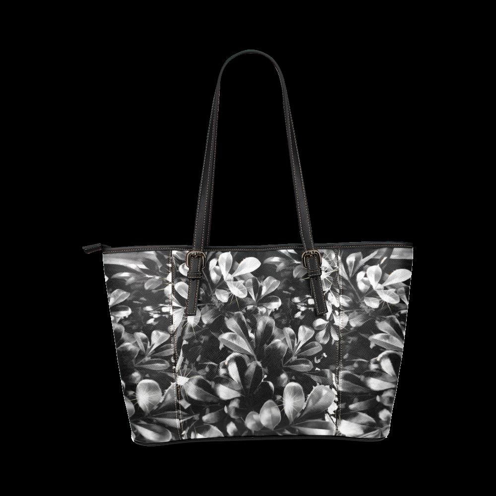 Foliage #1 - Jera Nour Leather Tote Bag/Small (Model 1640)