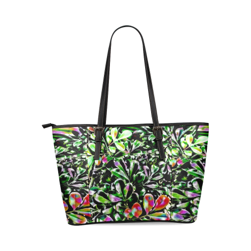 Foliage-6 Leather Tote Bag/Small (Model 1640)