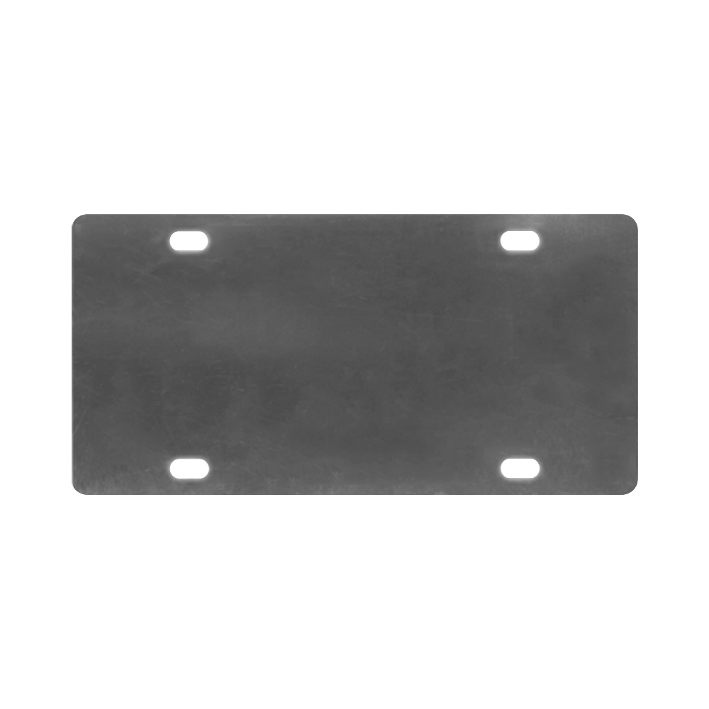 Cool Black Color Accent Classic License Plate