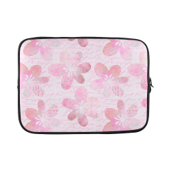 Watercolor Flower Pattern Custom Laptop Sleeve 15''