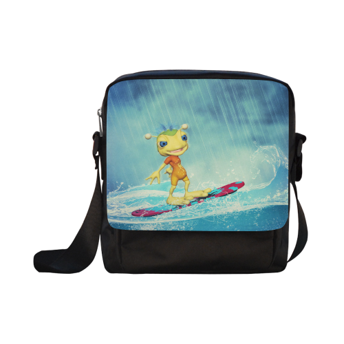 Surfing Alien Crossbody Nylon Bags (Model 1633)