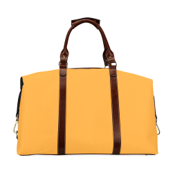 Radiant Yellow Color Accent Classic Travel Bag (Model 1643)