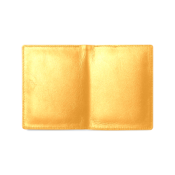 Radiant Yellow Color Accent Men's Leather Wallet (Model 1612)