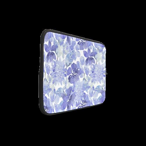 "Watercolor Flower Pattern Custom Sleeve for Laptop 17"""