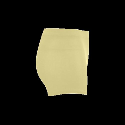 Custard Color Accent Briseis Skinny Shorts (Model L04)