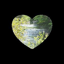River Runs Through It Heart-shaped Mousepad