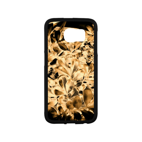 Foliage #2 Gold - Jera Nour Rubber Case for Samsung Galaxy S6