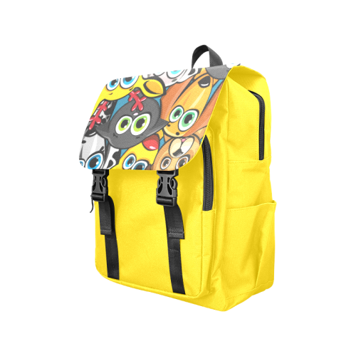 Group of funny animals - cats, dogs and deer Casual Shoulders Backpack (Model 1623)