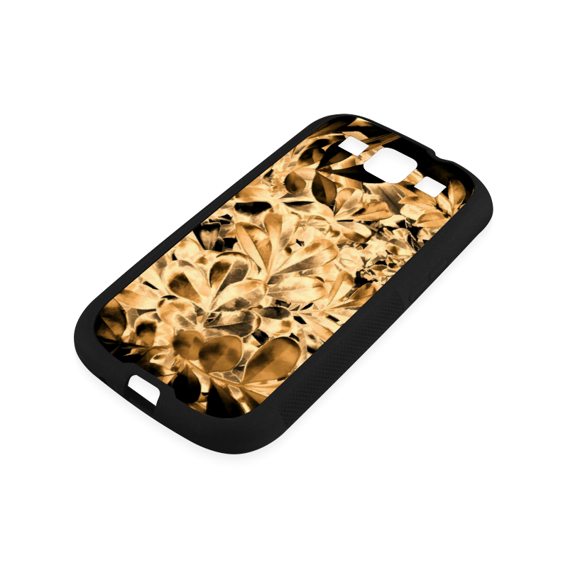 Foliage #2 Gold - Jera Nour Rubber Case for Samsung Galaxy S3