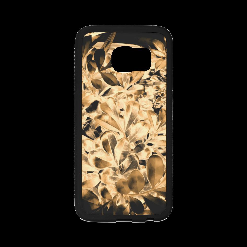 Foliage #2 Gold - Jera Nour Rubber Case for Samsung Galaxy S6 Edge