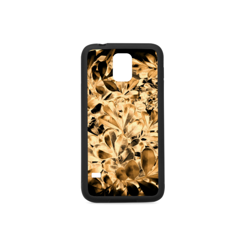 Foliage #2 Gold - Jera Nour Rubber Case for Samsung Galaxy S5