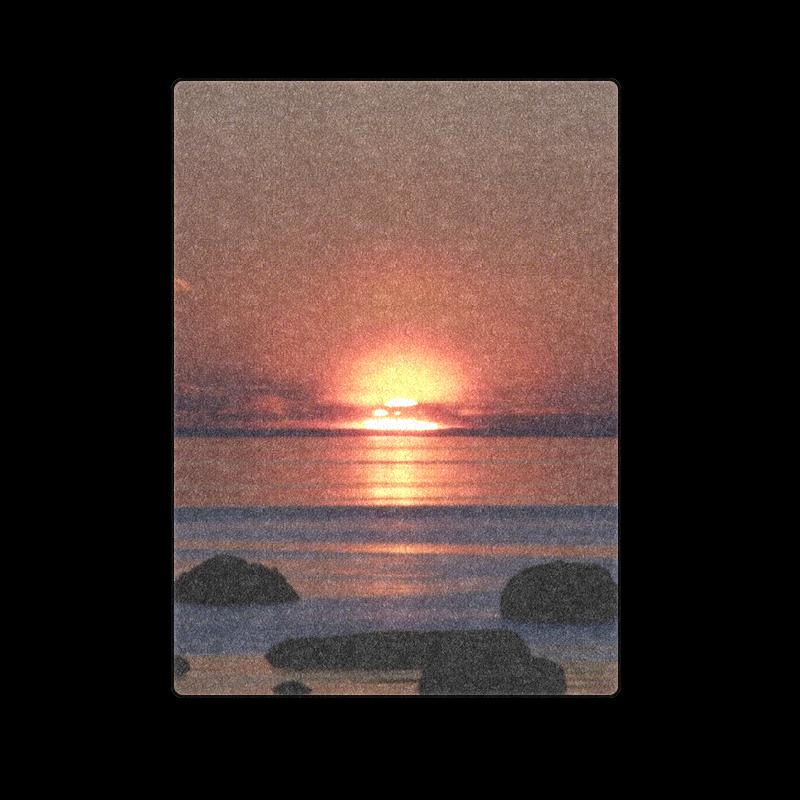 """Shockwave Sunset. Blanket 58""""x80"""""""