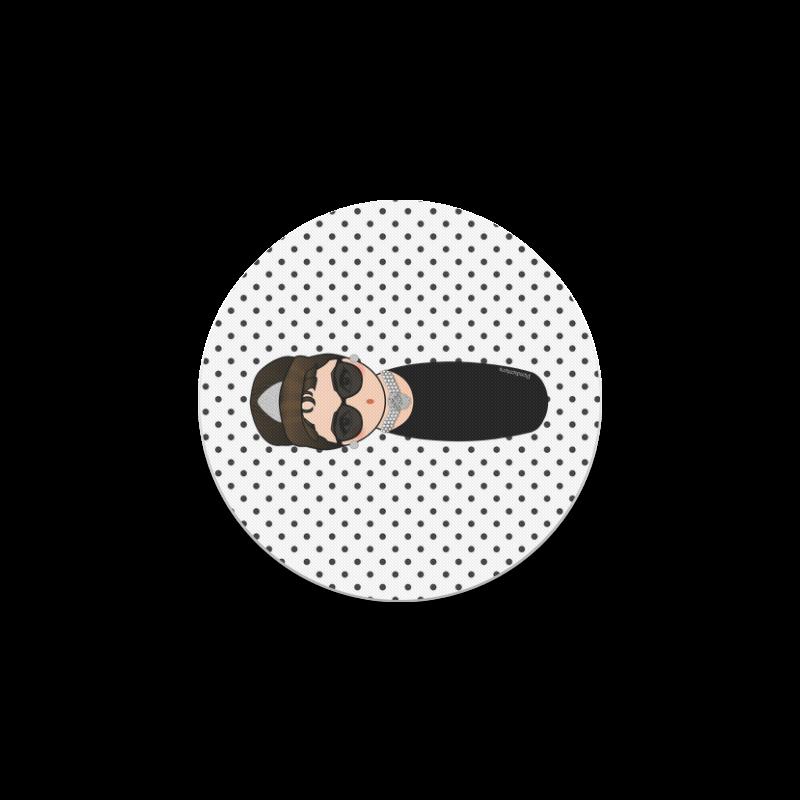 Kokeshi Audrey Hepburn Round Coaster