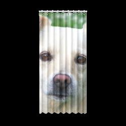 "Dog face close-up. Window Curtain 50"" x 108""(One Piece)"