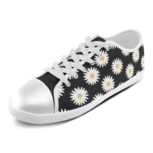 Daisies pattern Women's Canvas Shoes (Model 016)