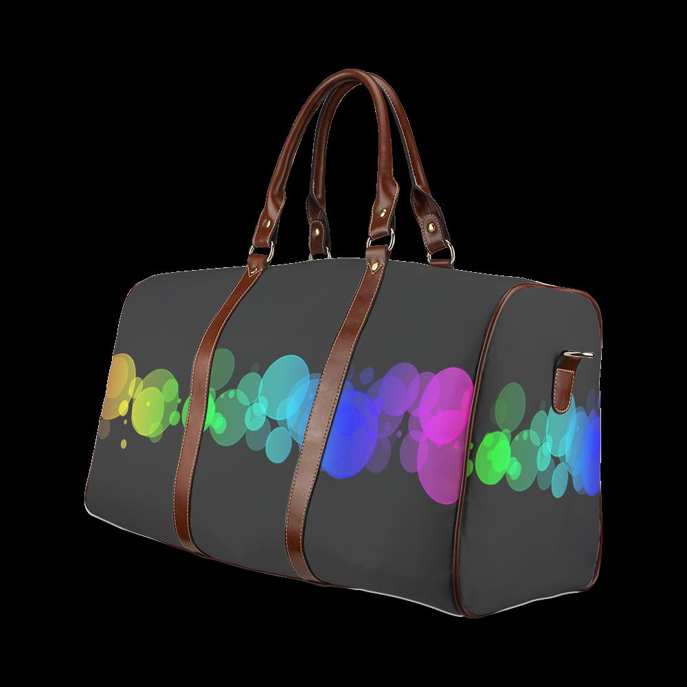 Rainbow Bokeh Glitter Discs Waterproof Travel Bag/Small (Model 1639)