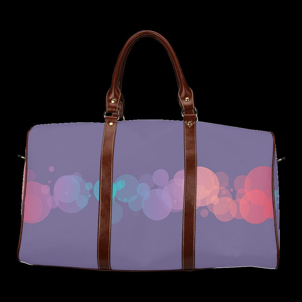Colorful Bokeh Glitter Discs Waterproof Travel Bag/Large (Model 1639)