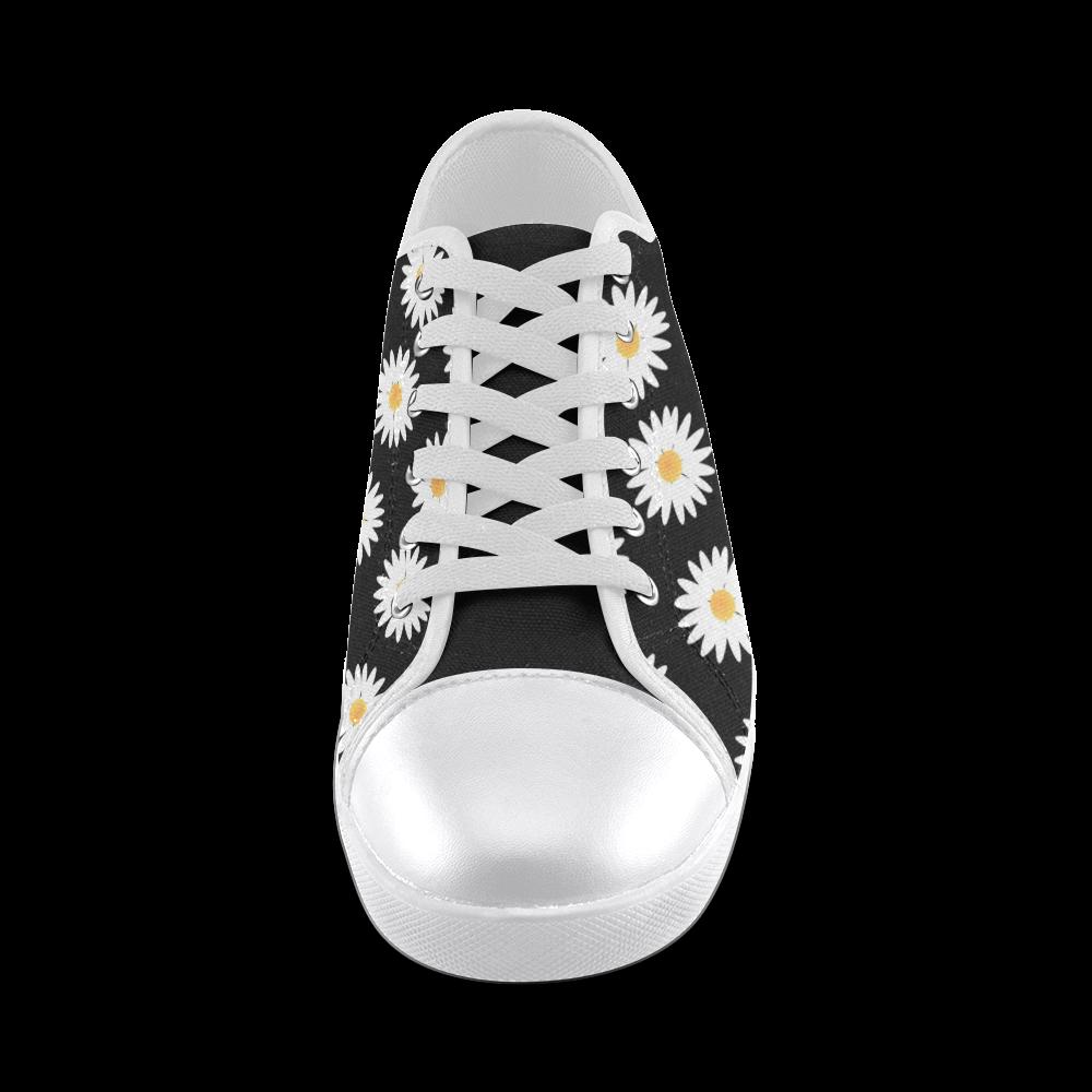Daisies pattern Women's Canvas Shoes (Model 016)