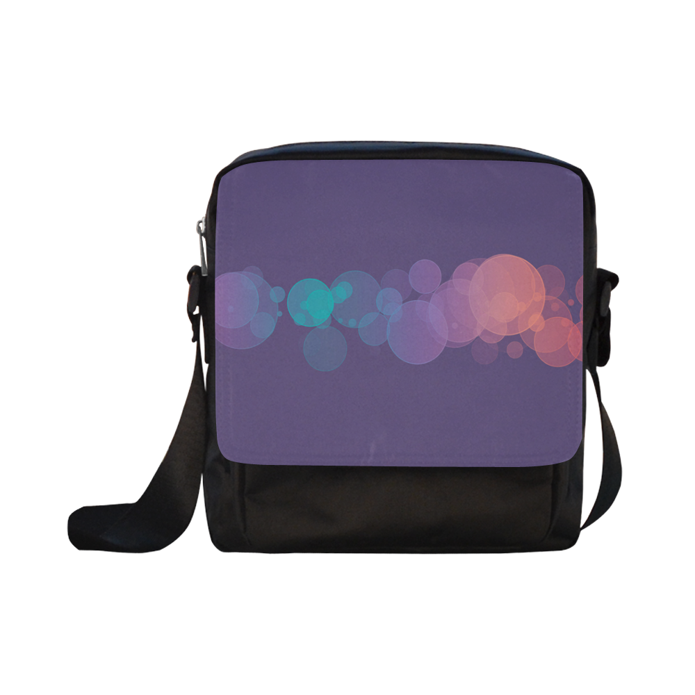 Colorful Bokeh Glitter Discs Crossbody Nylon Bags (Model 1633)