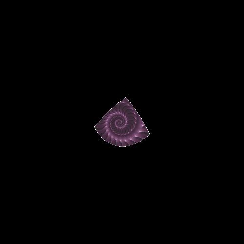 Glossy Purple Plum Spiral Fractal Custom Bikini Swimsuit
