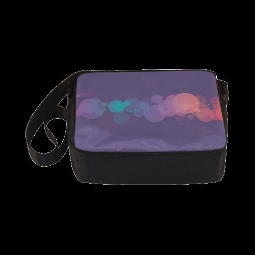 Colorful Bokeh Glitter Discs Classic Cross-body Nylon Bags (Model 1632)