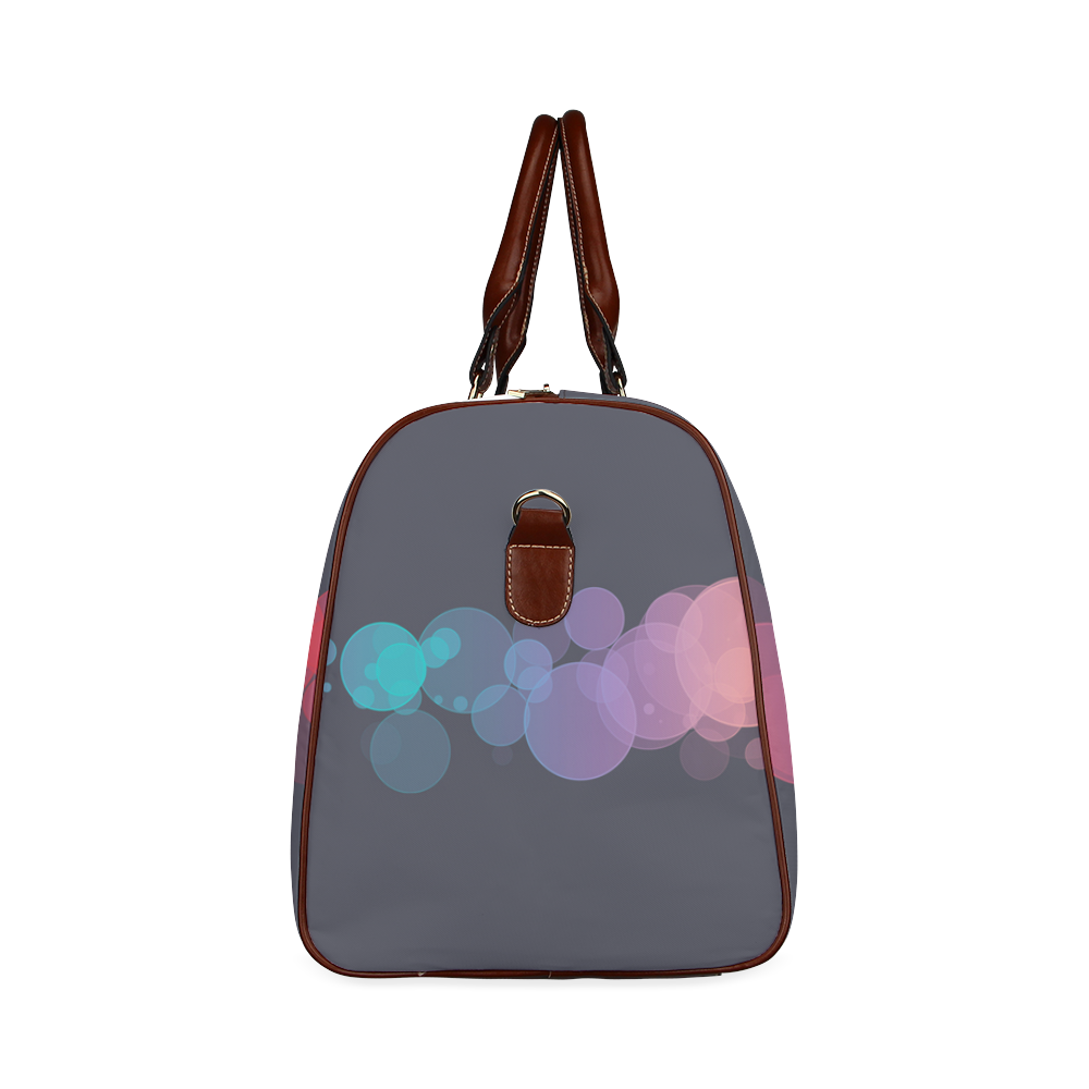 Colorful Bokeh Glitter Discs Waterproof Travel Bag/Large (Model 1639)
