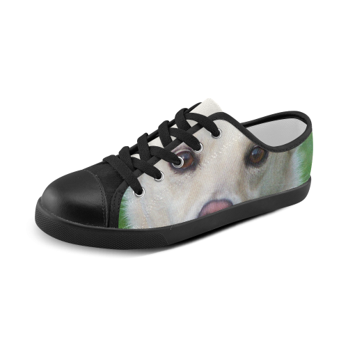 Dog face close-up Canvas Kid's Shoes (Model 016)