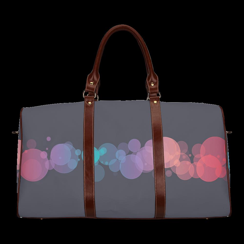 Colorful Bokeh Glitter Discs Waterproof Travel Bag/Small (Model 1639)