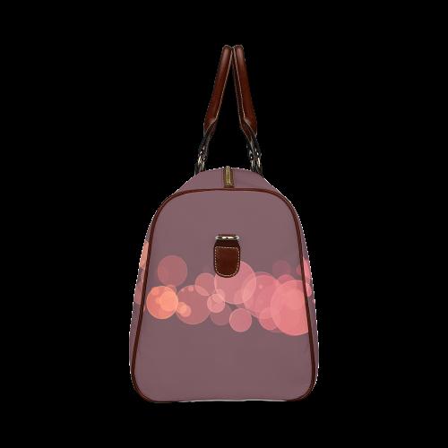Red Bokeh Glitter Discs Waterproof Travel Bag/Large (Model 1639)