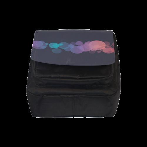 Colorful Bokeh Glitter Discs Crossbody Nylon Bags (Model 1633)