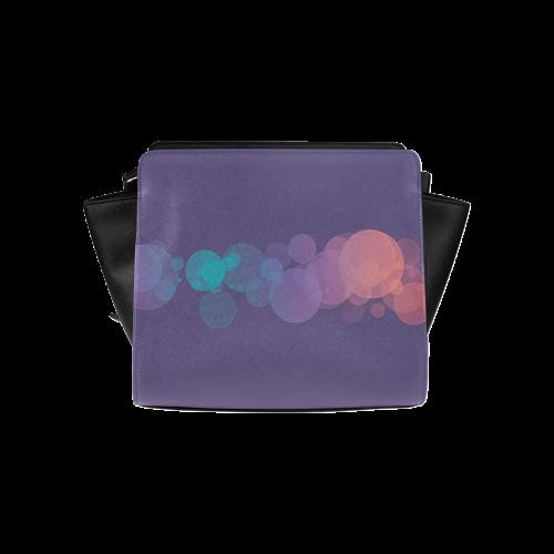 Colorful Bokeh Glitter Discs Satchel Bag (Model 1635)