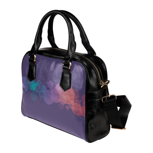 Colorful Bokeh Glitter Discs Shoulder Handbag (Model 1634)
