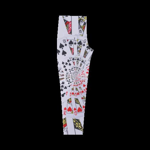 Royal Flush Poker Cards Spiral Droste Capri Legging (Model L02)