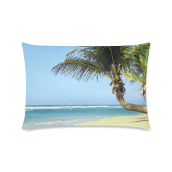 "Beach20160101 Custom Rectangle Pillow Case 16""x24"" (one side)"