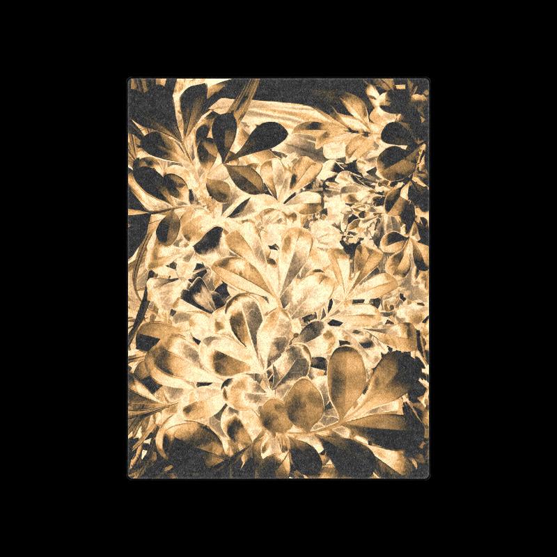 "Foliage #2 Gold - Jera Nour Blanket 50""x60"""
