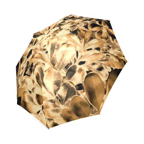 Foliage #2 Gold - Jera Nour Foldable Umbrella (Model U01)