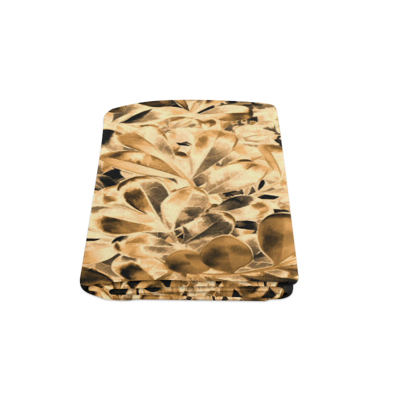"Foliage #2 Gold - Jera Nour Blanket 58""x80"""