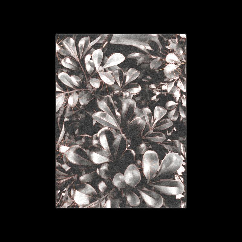 "Foliage #1 Red Edge - Jera Nour Blanket 50""x60"""