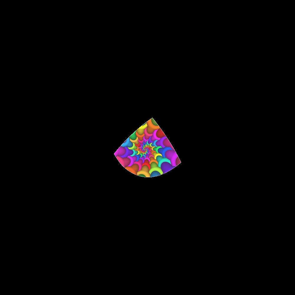 Psychedelic Rainbow Spiral Custom Bikini Swimsuit
