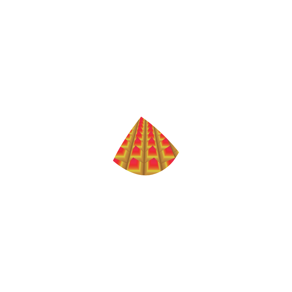 Yellow and Red 3D Geometric Pyramids Custom Bikini Swimsuit