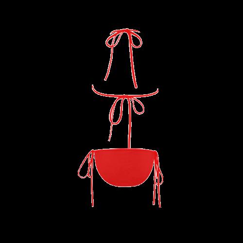 Happy Red Smiley Custom Bikini Swimsuit