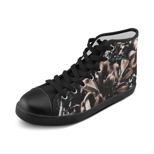 Foliage #5 - Jera Nour Women's High Top Canvas Shoes (Model 002)