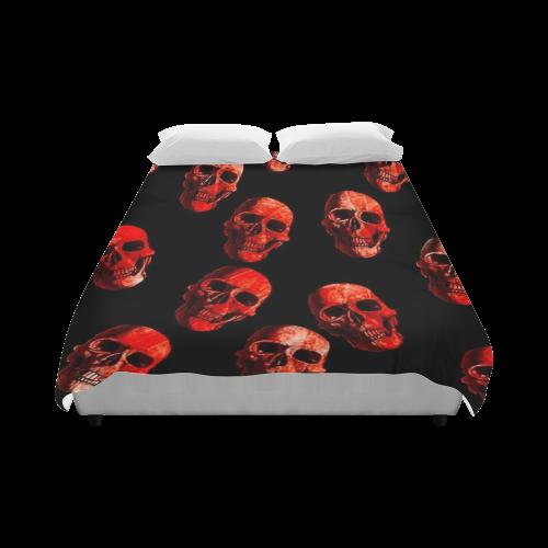 """skulls red Duvet Cover 86""""x70"""" ( All-over-print)"""